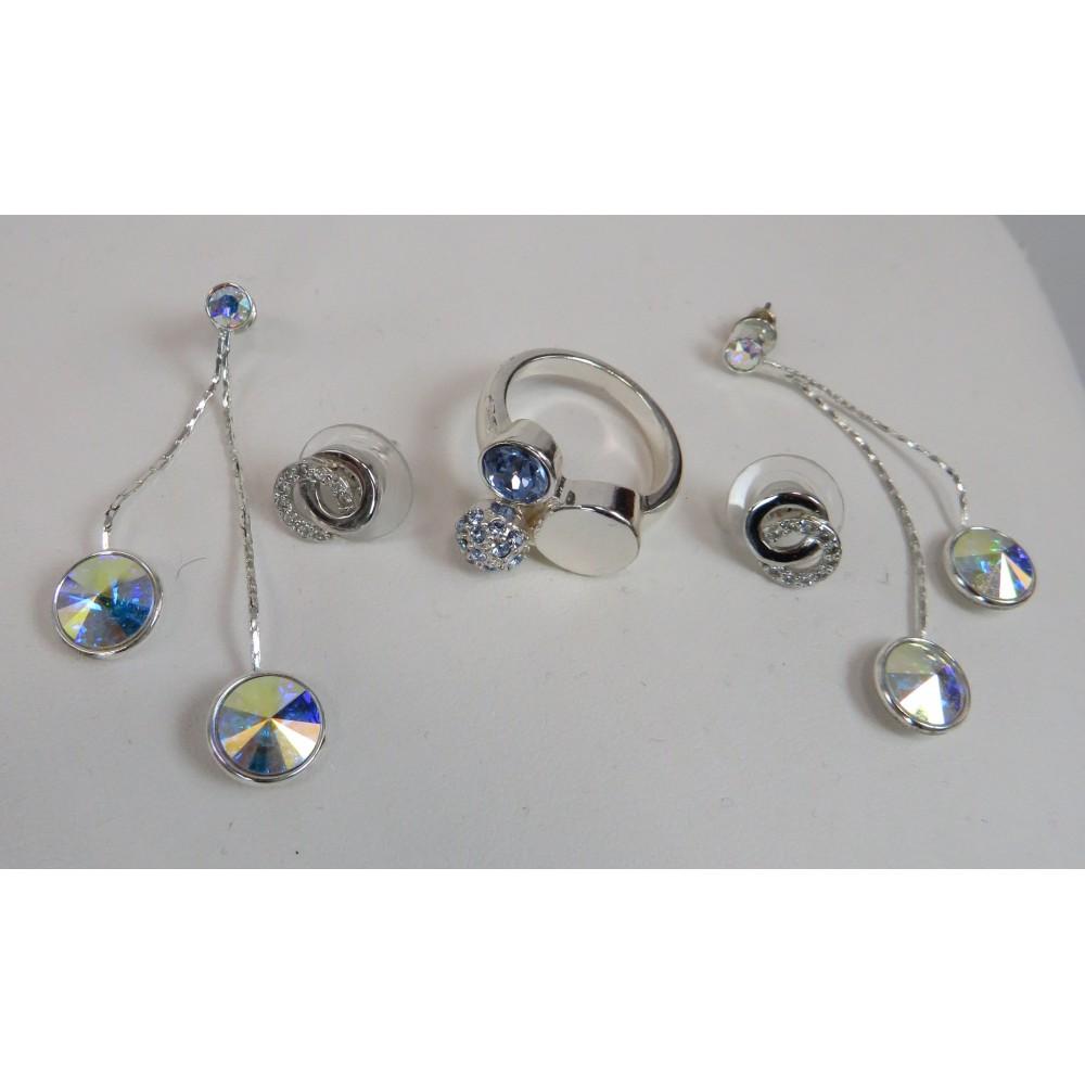 Комплект серьги 2 пары и кольцо